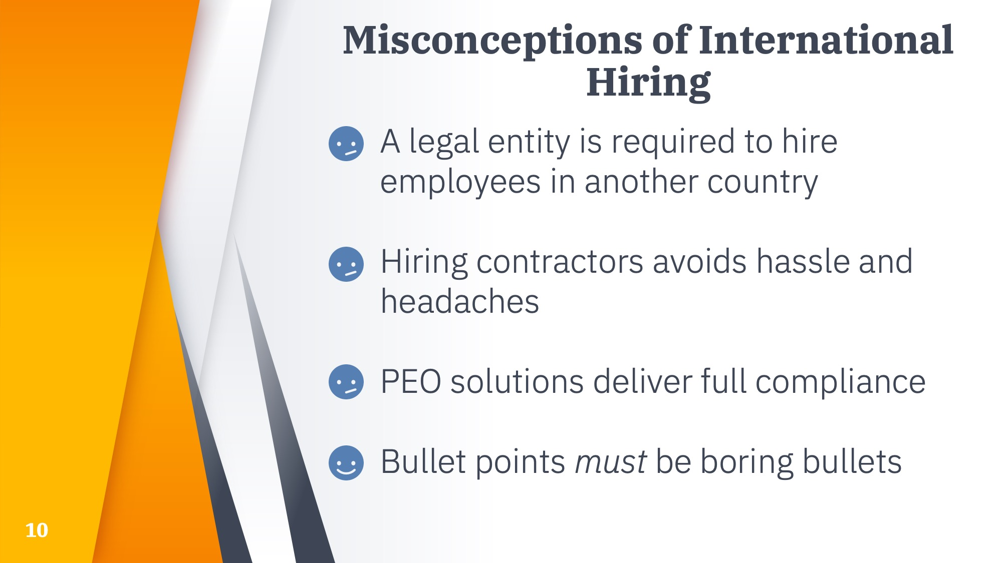 International hiring - misconceptions