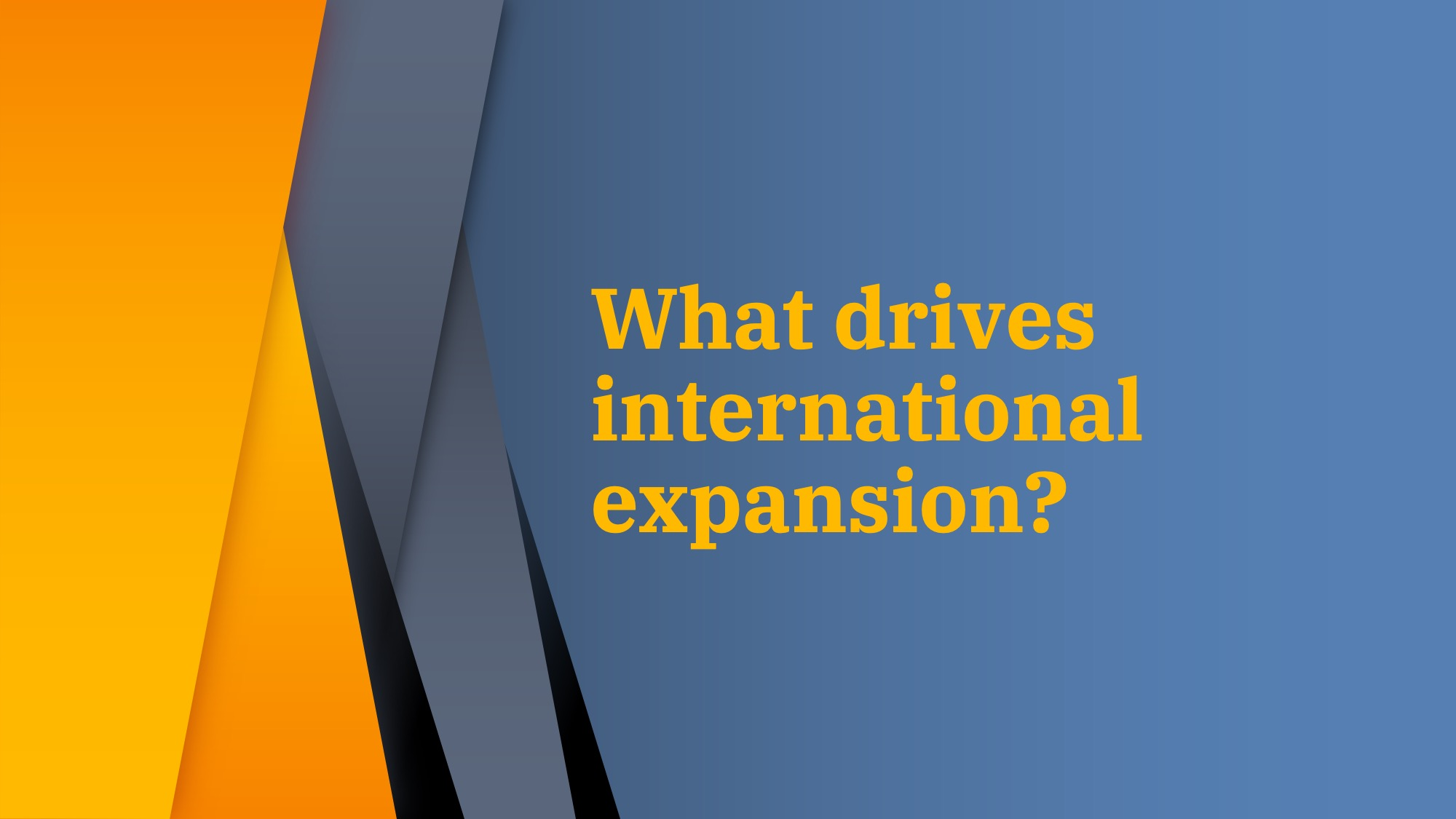 What drives international expansion?